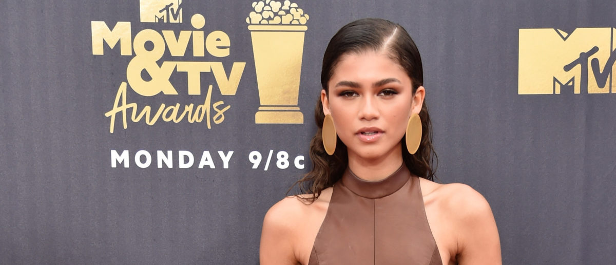 Actor-recording artist Zendaya attends the 2018 MTV Movie And TV Awards at Barker Hangar on June 16, 2018 in Santa Monica, California. (Photo by Alberto E. Rodriguez/Getty Images for MTV)