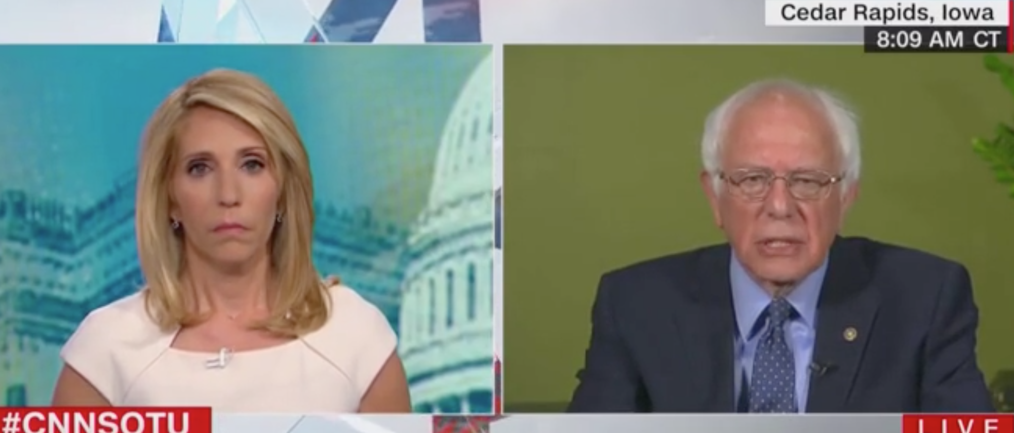 Bernie Snaps At CNN's Bash: 'Dana, Last I Heard The Election Was 8 Months From Today'
