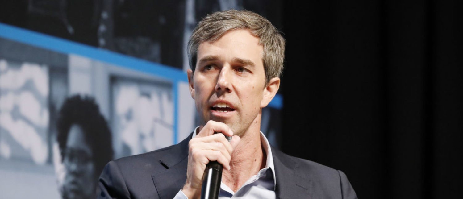 Beto O'Rourke speaks onstage at the MoveOn Big Ideas Forum at The Warfield Theatre on June 01, 2019 in San Francisco, California. (Kimberly White/Getty Images for MoveOn)