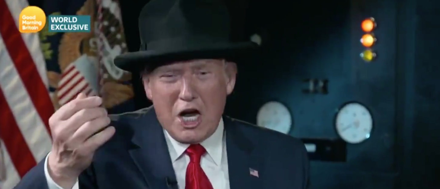 Piers Morgan Presents Trump With A Winston Churchill-Style