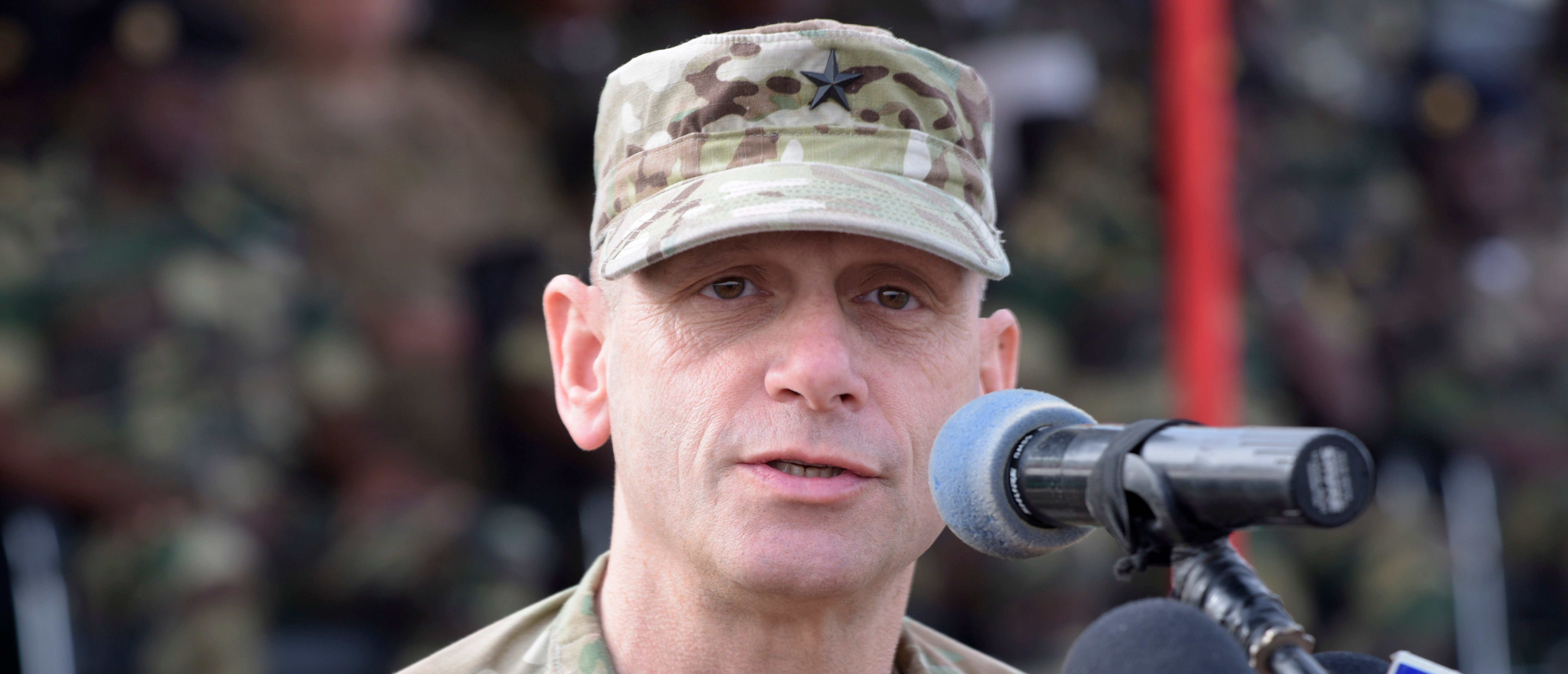 US Brigadier General Donald C. Bolduc, who served as the Deputy Director for Operations, United States Africa Command, speaks on February 8, 2016 (SEYLLOU/AFP/Getty Images)
