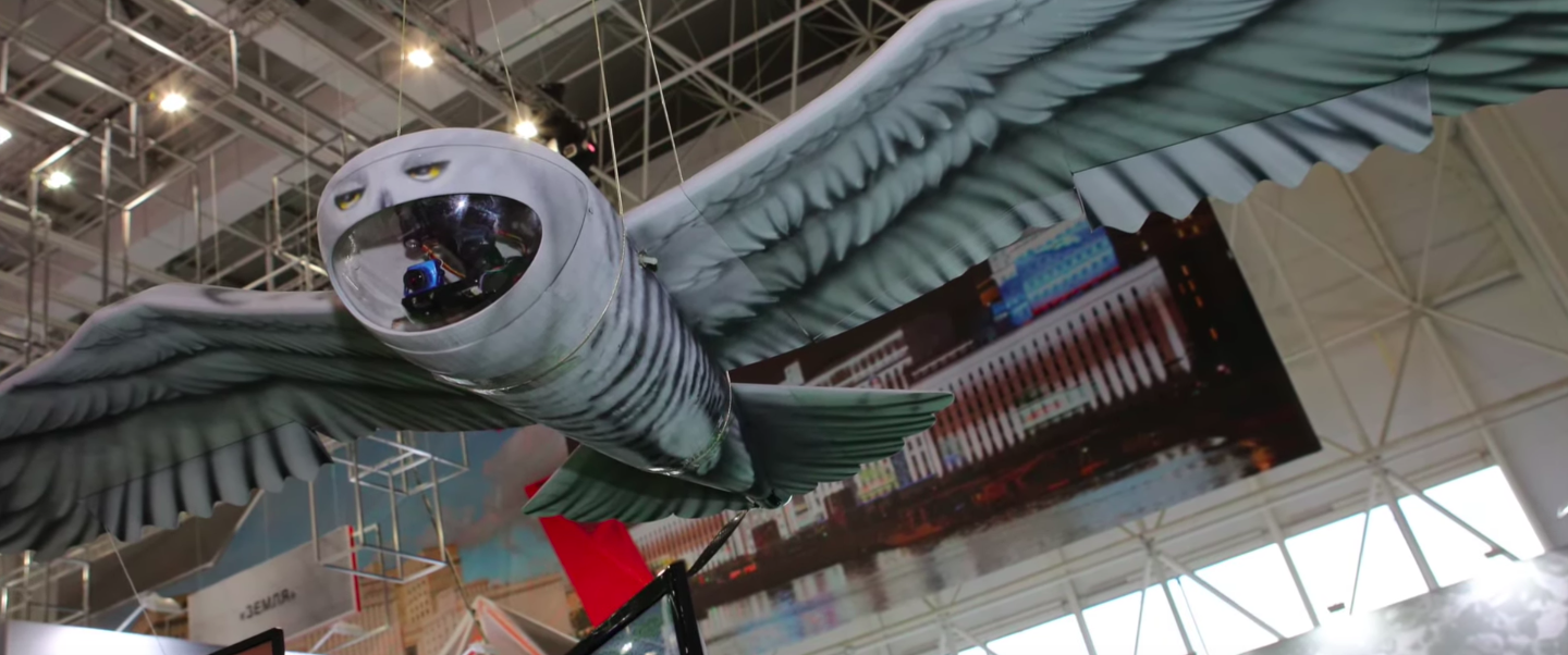 Russia Unveils Drone Disguised As Snowy Owl For Undercover Missions