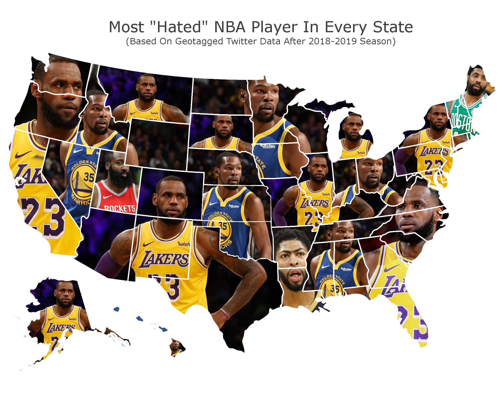 NBA Most Hated Map (Credit: sportsinsider.com)