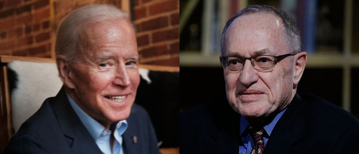 Former Harvard law professor Alan Dershowitz said he would vote for former vice president Joe Biden over President Donald Trump in a 2020 matchup during a radio interview June 13, 2019.