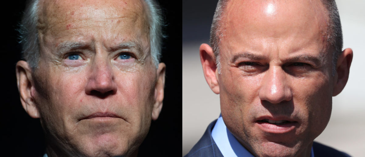 Left: former Vice President Joe Biden (SAUL LOEB/AFP/Getty Images) Right: attorney Michael Avenatti (REUTERS/Lucy Nicholson)