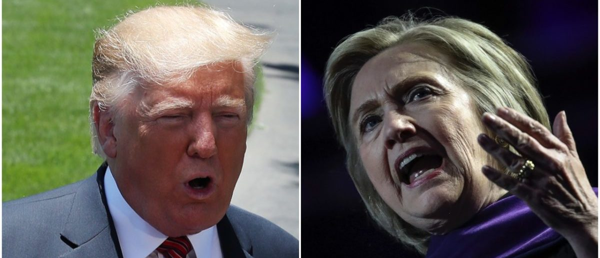 Left: President Donald Trump (Getty Images), Right: Hillary Clinton (Getty Images)