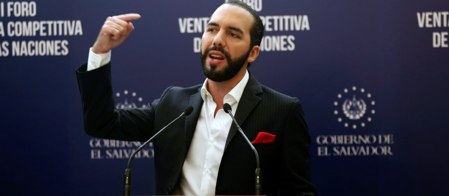 President of El Salvador Nayib Bukele speaks during a joint news conference after the Competitive Advantage of Nations Forum in San Salvador, El Salvador, June 27, 2019. REUTERS/Jose Cabezas -