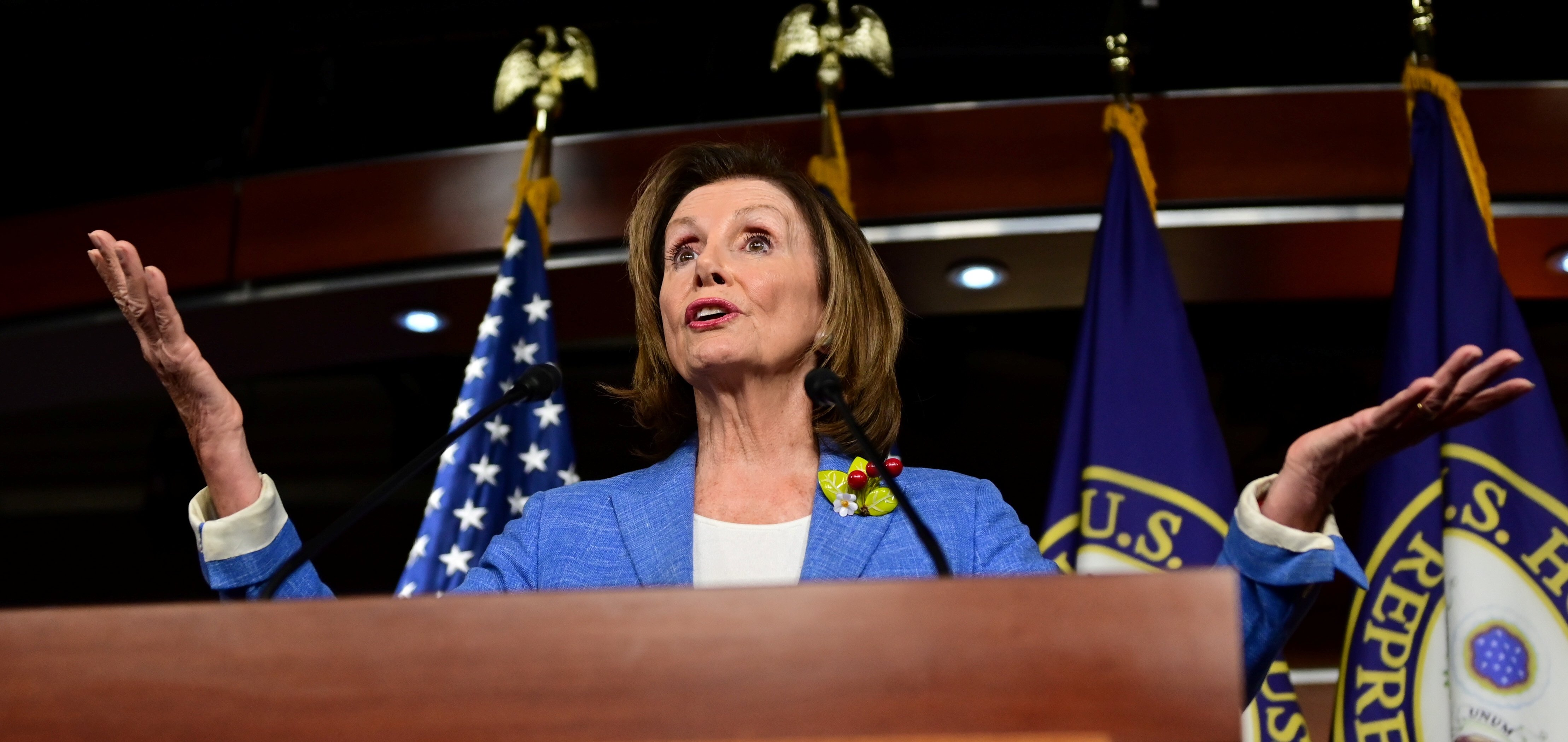 U.S. Speaker of the House Nancy Pelosi (D-CA) holds a weekly news conference with Capitol Hill reporters in Washington, U.S. July 26, 2019. REUTERS/Erin Scott