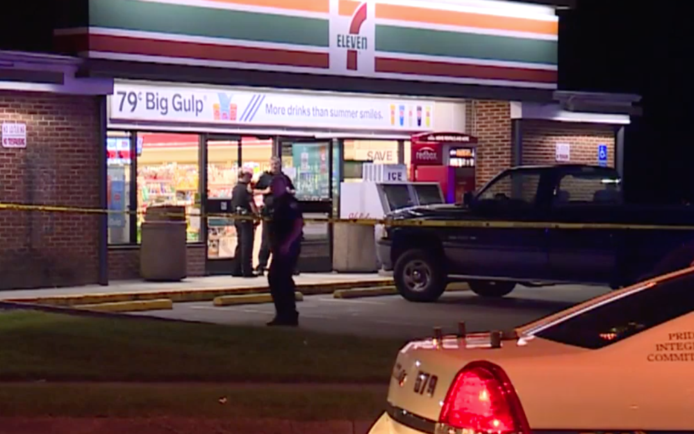 Customer at a 7-Eleven store in Virginia shot two suspects who were allegedly trying to rob the business July 25, 2019. Photo Youtube screenshot courtesy of WAVY.