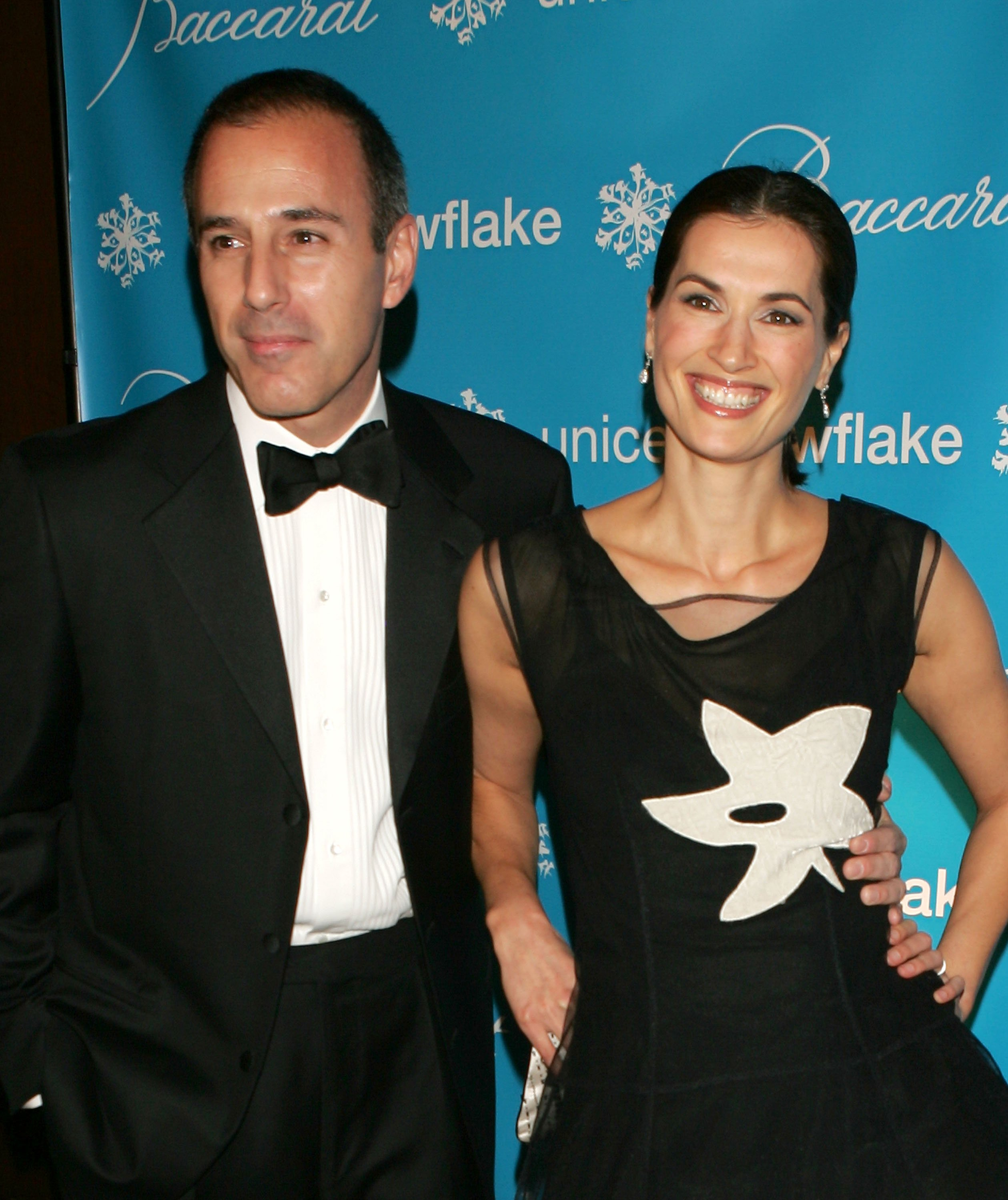 NBC Today Show anchor Matt Lauer and his wife, UNICEF Ambassador Annette Roque Lauer attend the 2nd Annual Snowflake Ball at the Waldorf-Astoria Hotel on November 28, 2005 in New York City. (Photo by Scott Gries/Getty Images)
