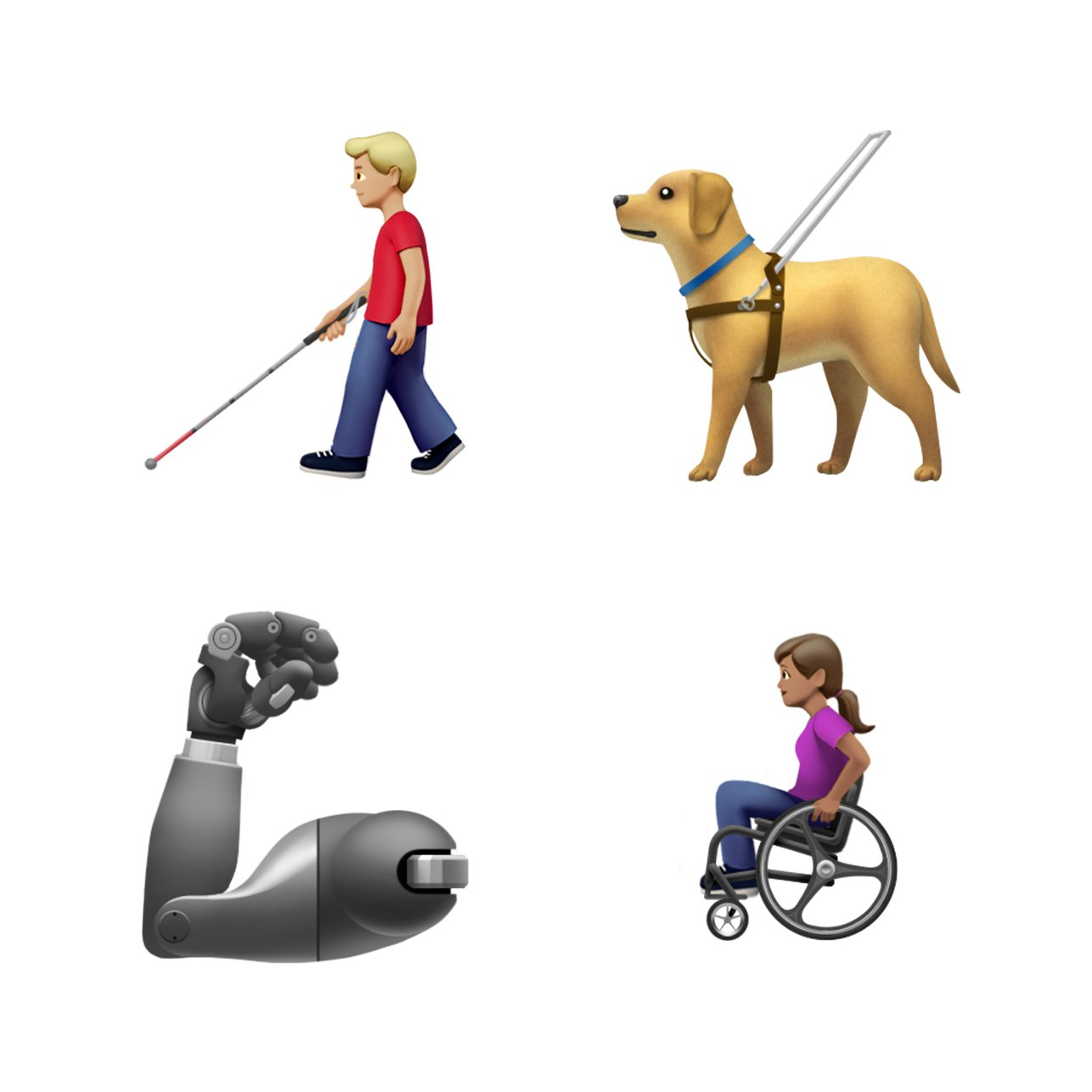 Apple's disability emojis (Download, Apple, Inc.)