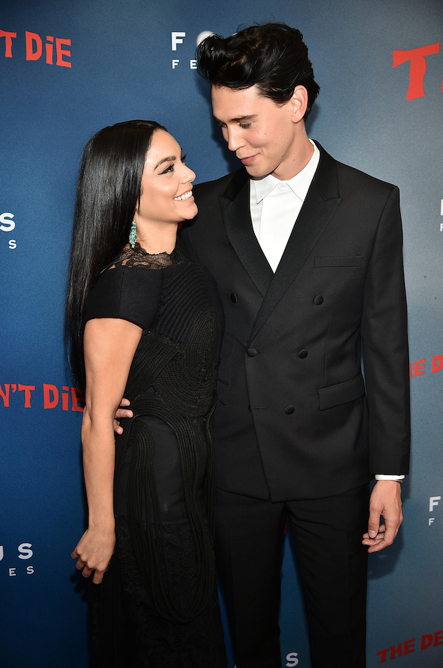 "Vanessa Hudgens and Austin Butler attend ""The Dead Don't Die"" New York Premiere at Museum of Modern Art on June 10, 2019 in New York City. (Photo by Theo Wargo/Getty Images)"