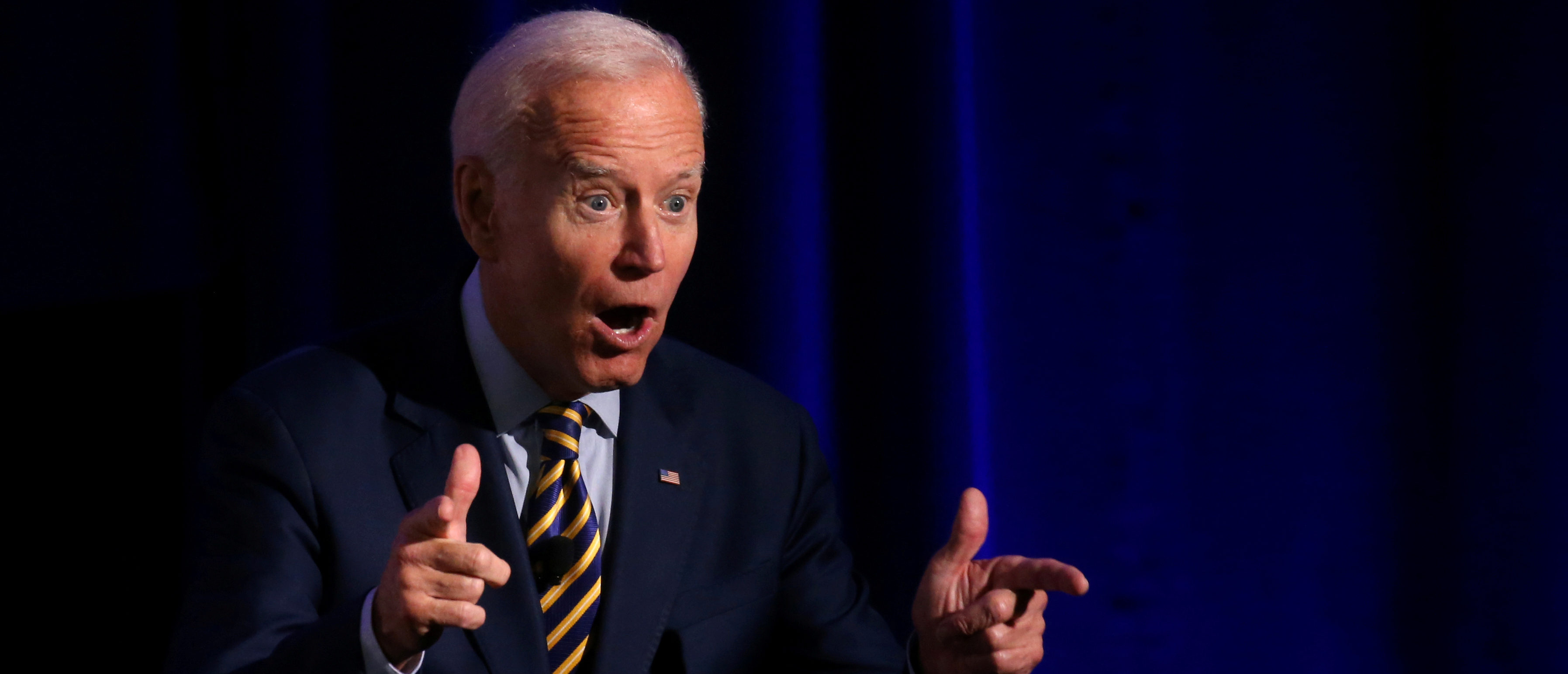 Democratic candidate for president, former Vice President Joe Biden, tells the audience to vote as he leaves the stage after participating in We Decide: 2020 Election Membership Forum, an event put on by Planned Parenthood in the University of South Carolina's Alumni Center in Columbia, South Carolina, U.S., June 22, 2019. REUTERS/Leah Millis