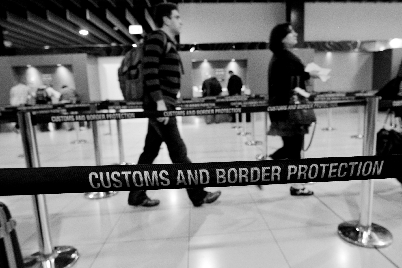 CBP Airport Line. Shutterstock