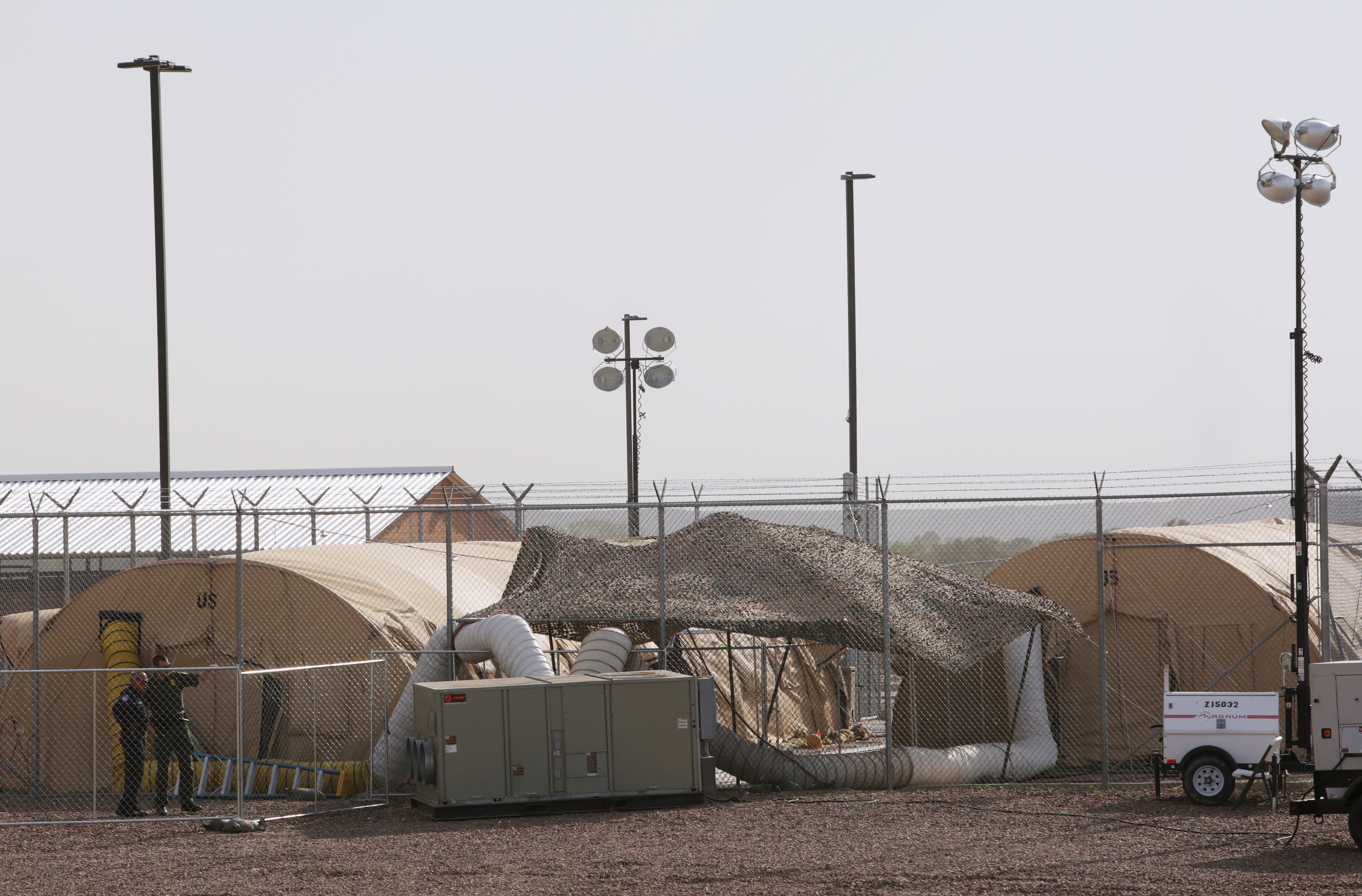 FILE PHOTO: A general view shows the U.S. Customs and Border Protection's Border Patrol station facilities in Clint