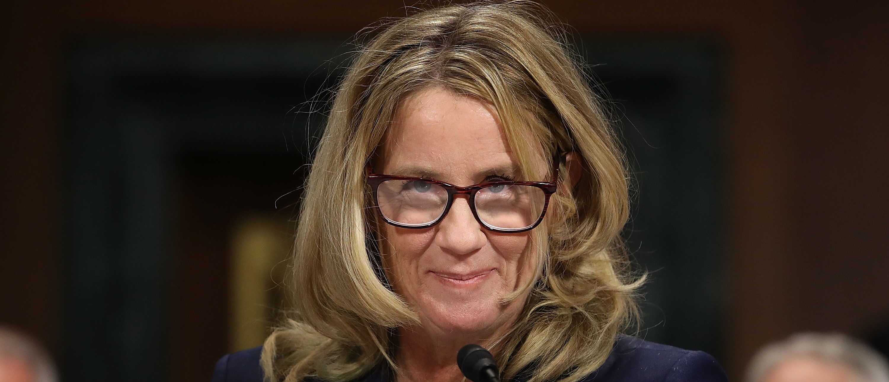 Christine Blasey Ford testifies before the Senate Judiciary Committee on September 27, 2018. (Win McNamee/Getty Images)