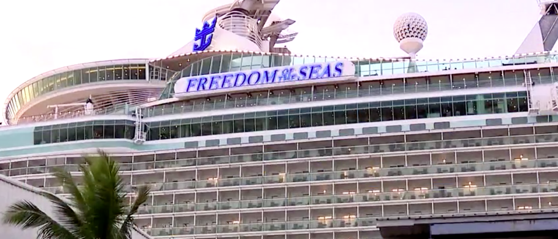 A toddler slipped from her grandfather's hands and fell to her death from a cruise ship in Puerto Rico July 7, 2019. Photo video screenshot courtesy of WSBT.