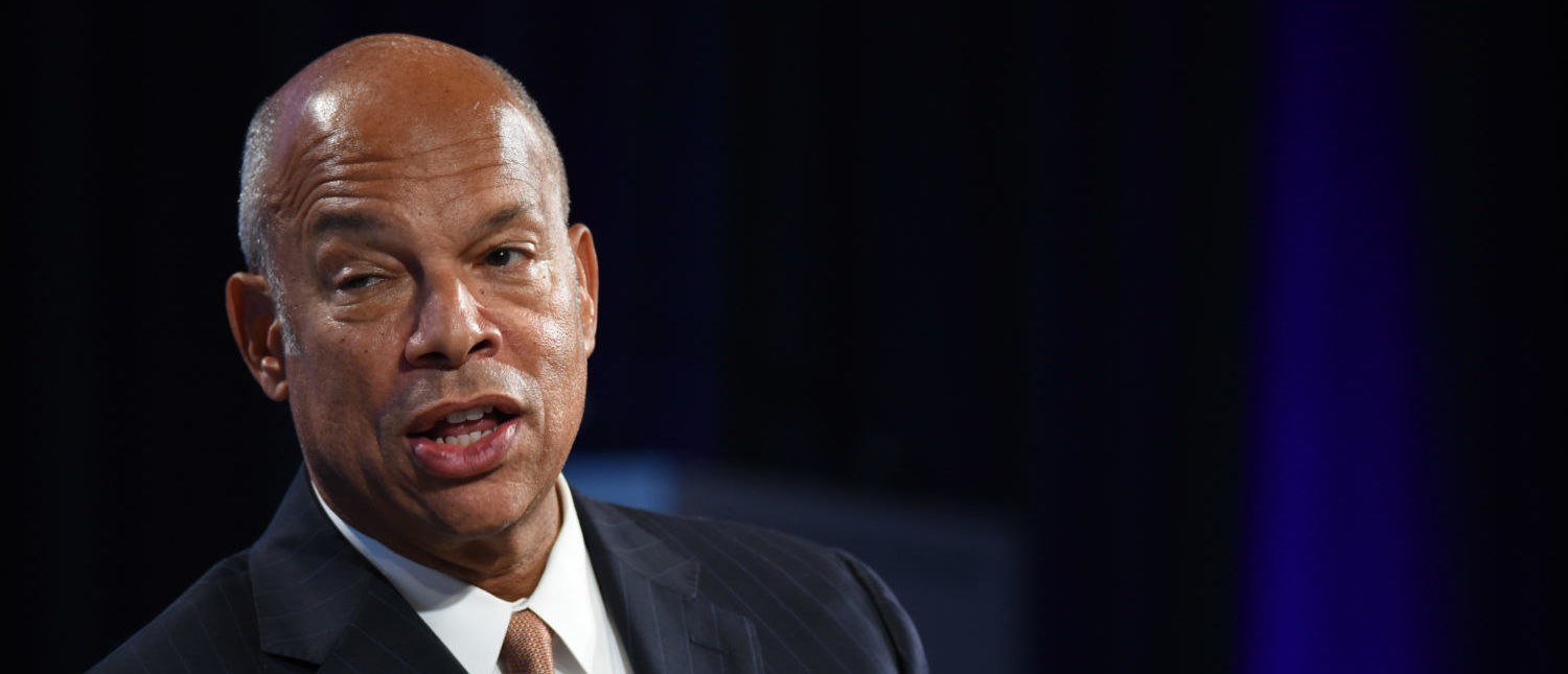 Hon. Jeh Johnson speaks onstage during the 2018 Concordia Annual Summit - Day 1 at Grand Hyatt New York on September 24, 2018 in New York City. (Photo by Riccardo Savi/Getty Images for Concordia Summit)