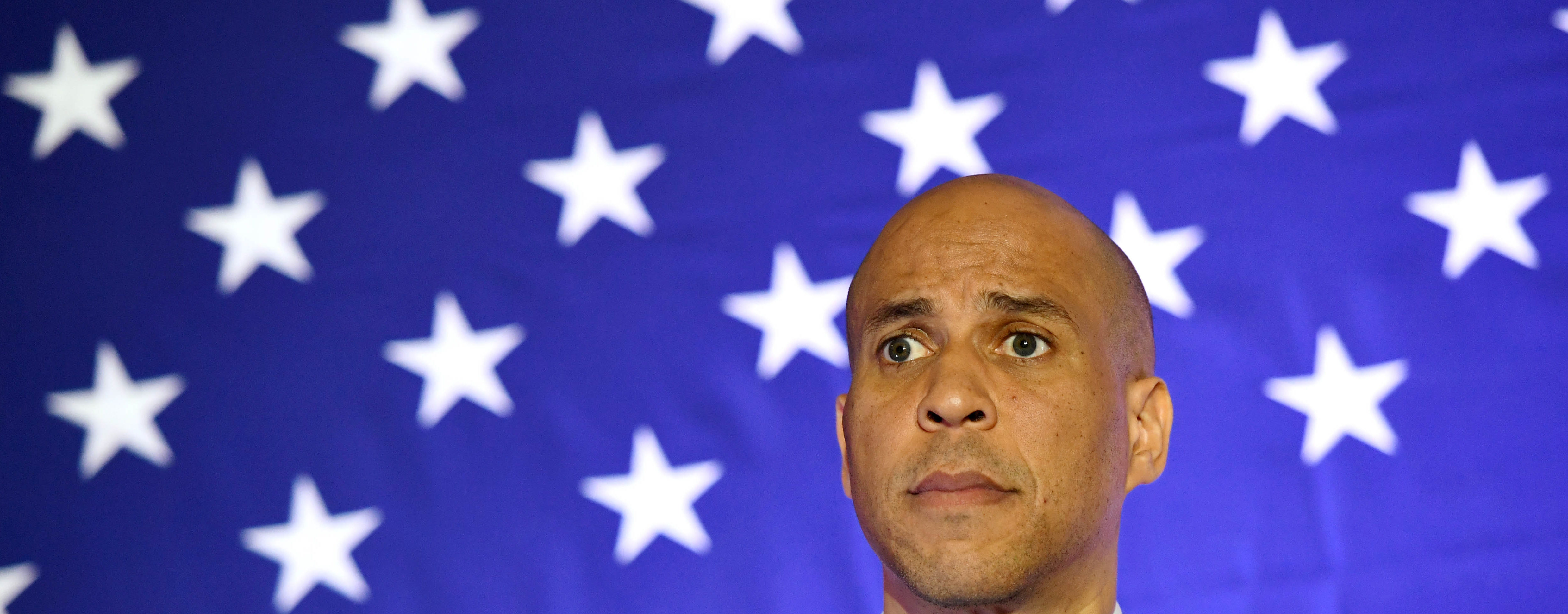 """U.S. Sen. Cory Booker (D-NJ) listens to a question at his """"Conversation with Cory"""" campaign event at the Nevada Partners Event Center on February 24, 2019 in North Las Vegas, Nevada. Booker is campaigning for the 2020 Democratic nomination for president. (Photo by Ethan Miller/Getty Images)"""