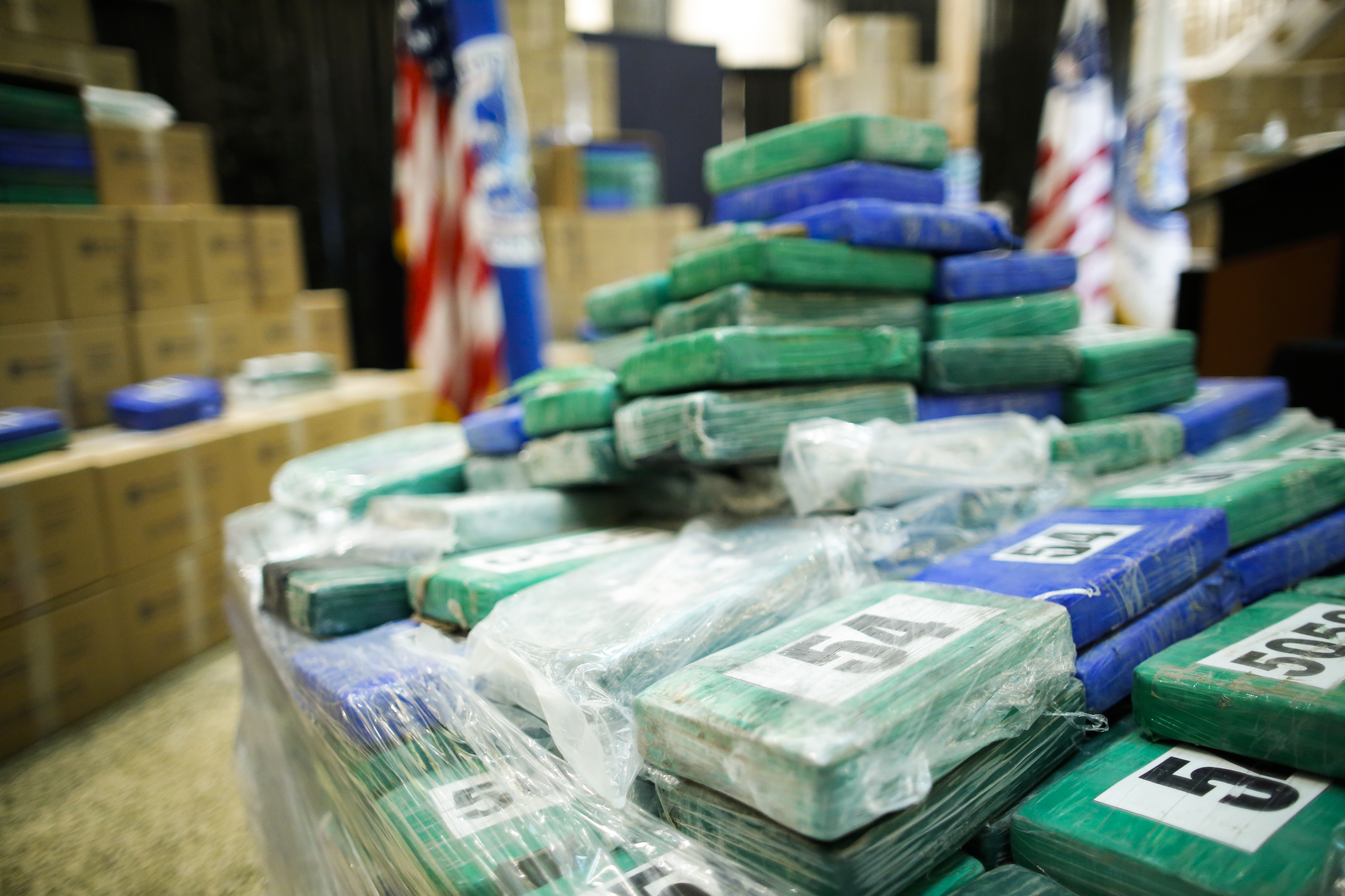 US Customs and Border Protection seized over 17.5 tons of cocaine worth more than $1 billion at a Philadelphia seaport. (Photo by Eduardo Munoz Alvarez/Getty Images)