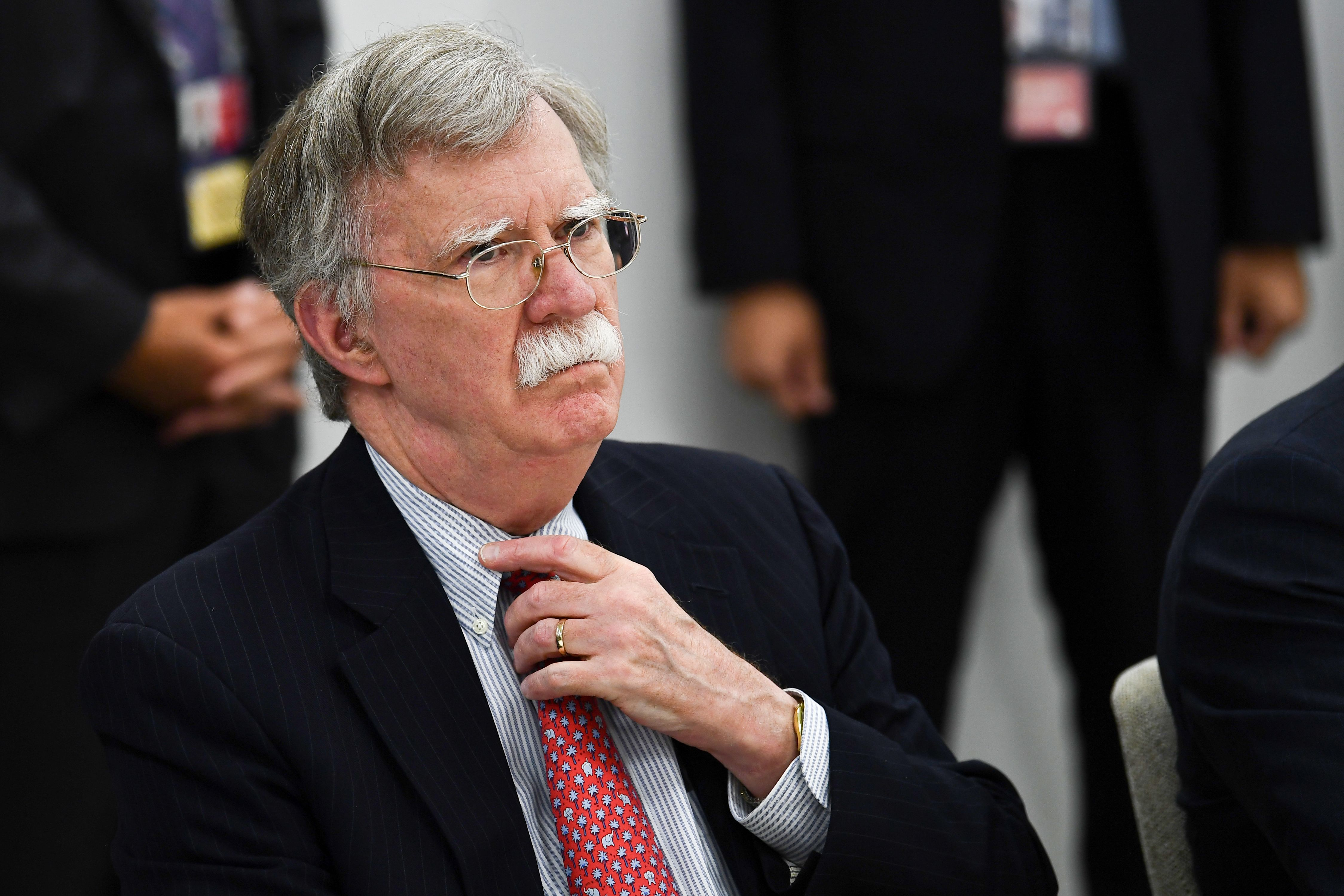 US National Security Advisor John Bolton attends a meeting during the G20 Osaka Summit in Osaka on June 28, 2019. (Photo by Brendan Smialowski / AFP) (Photo credit should read BRENDAN SMIALOWSKI/AFP/Getty Images)