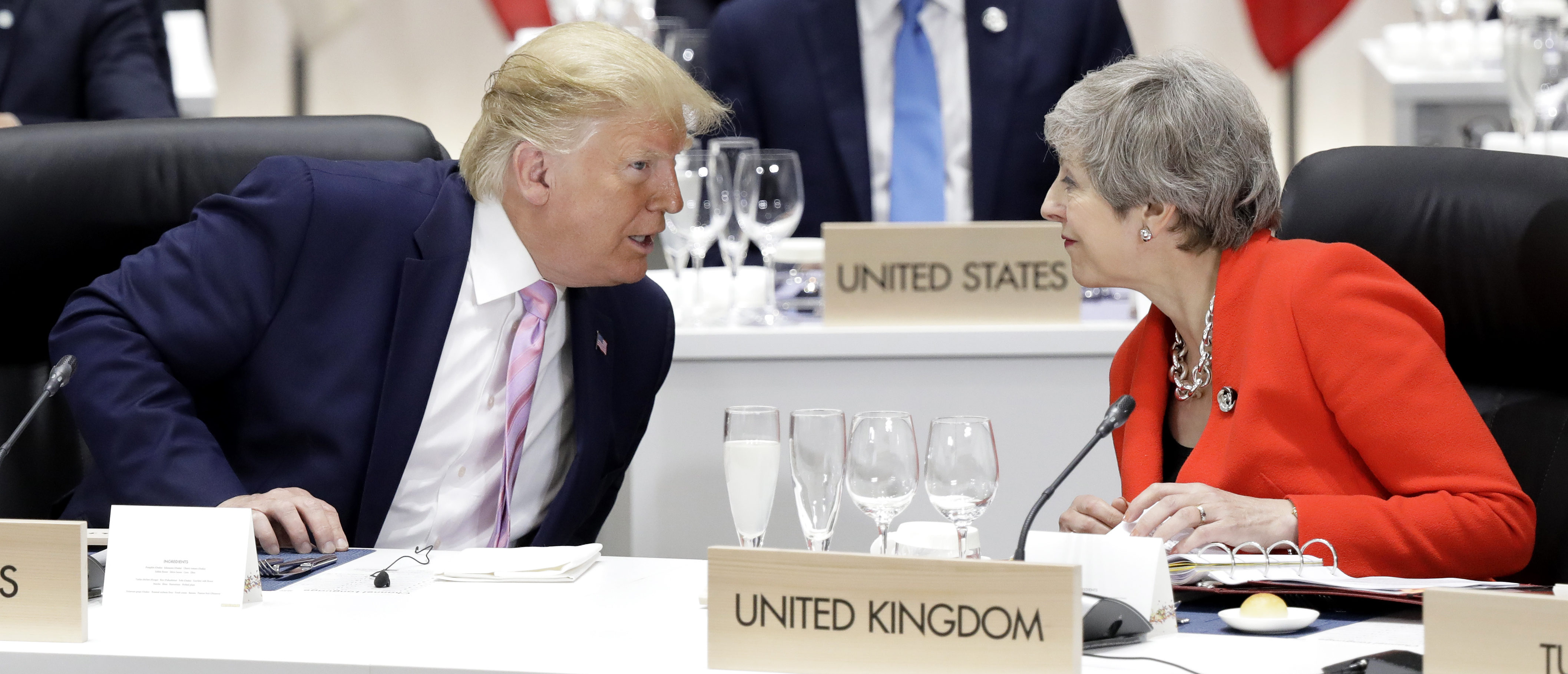 img President Trump Speaks To Theresa May