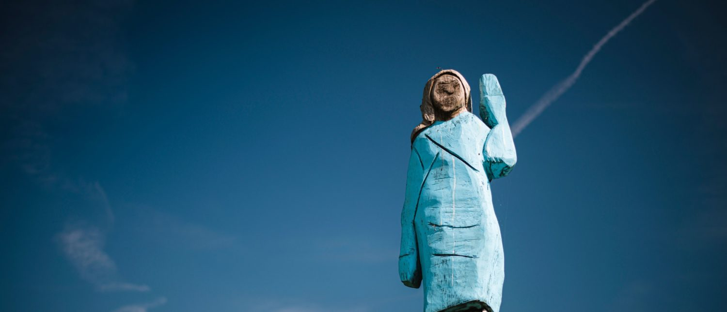 A July 5th image of the statue, outside of Sevnica, Slovenia. (JURE MAKOVEC/AFP/Getty Images)