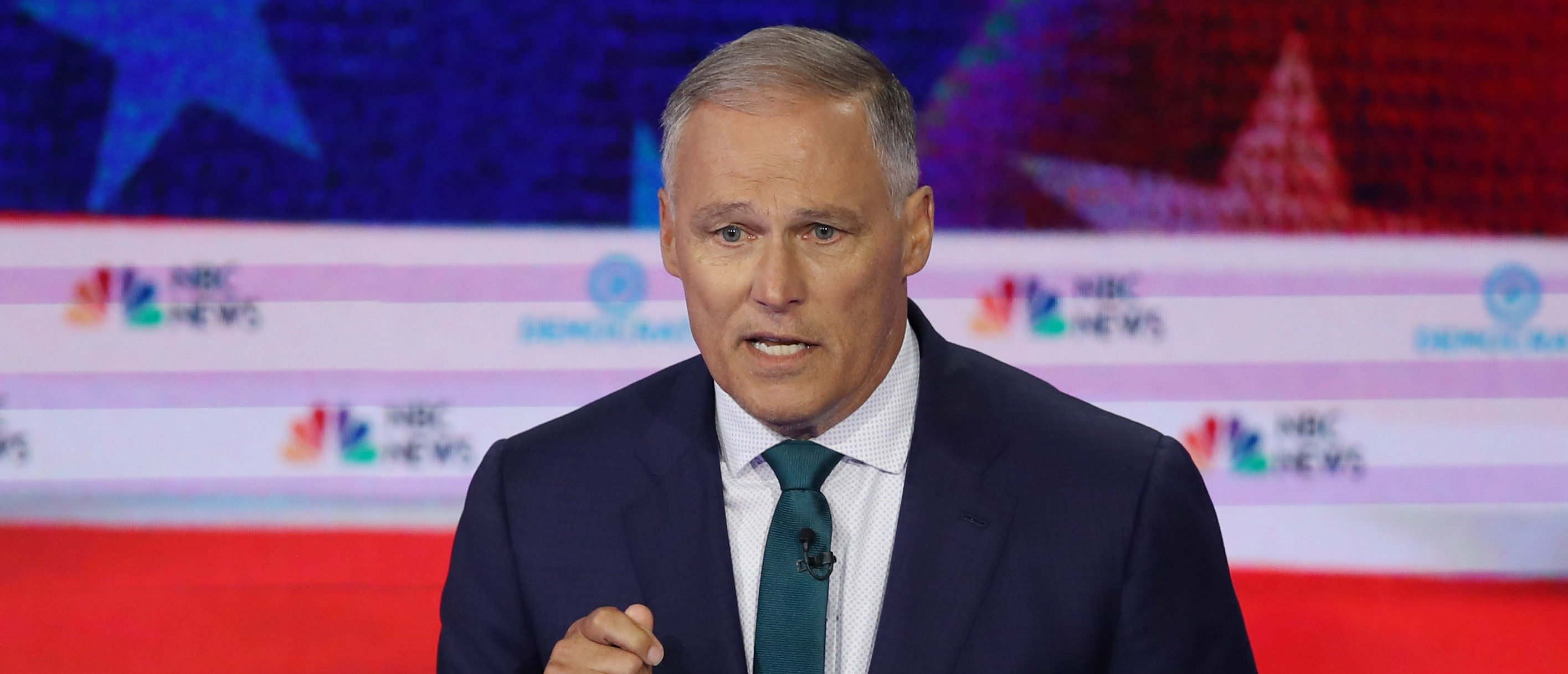 Washington Gov. Jay Inslee speaks during the first night of the Democratic presidential debate on June 26, 2019 in Miami, Florida. (Joe Raedle/Getty Images)