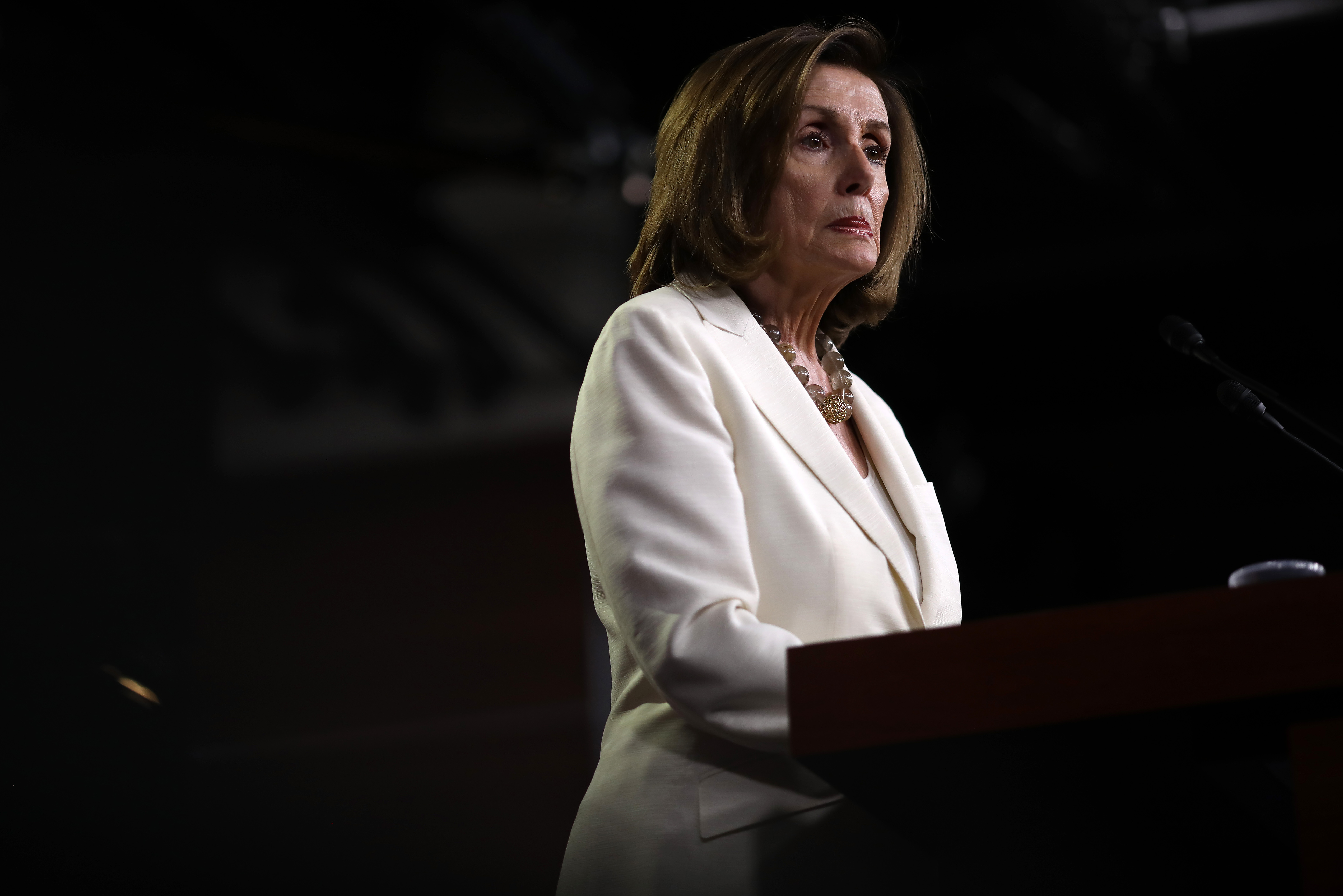 Speaker of the House Nancy Pelosi answers questions during a press conference at the U.S. Capitol on July 11, 2019 in Washington, DC. (Photo by Win McNamee/Getty Images)