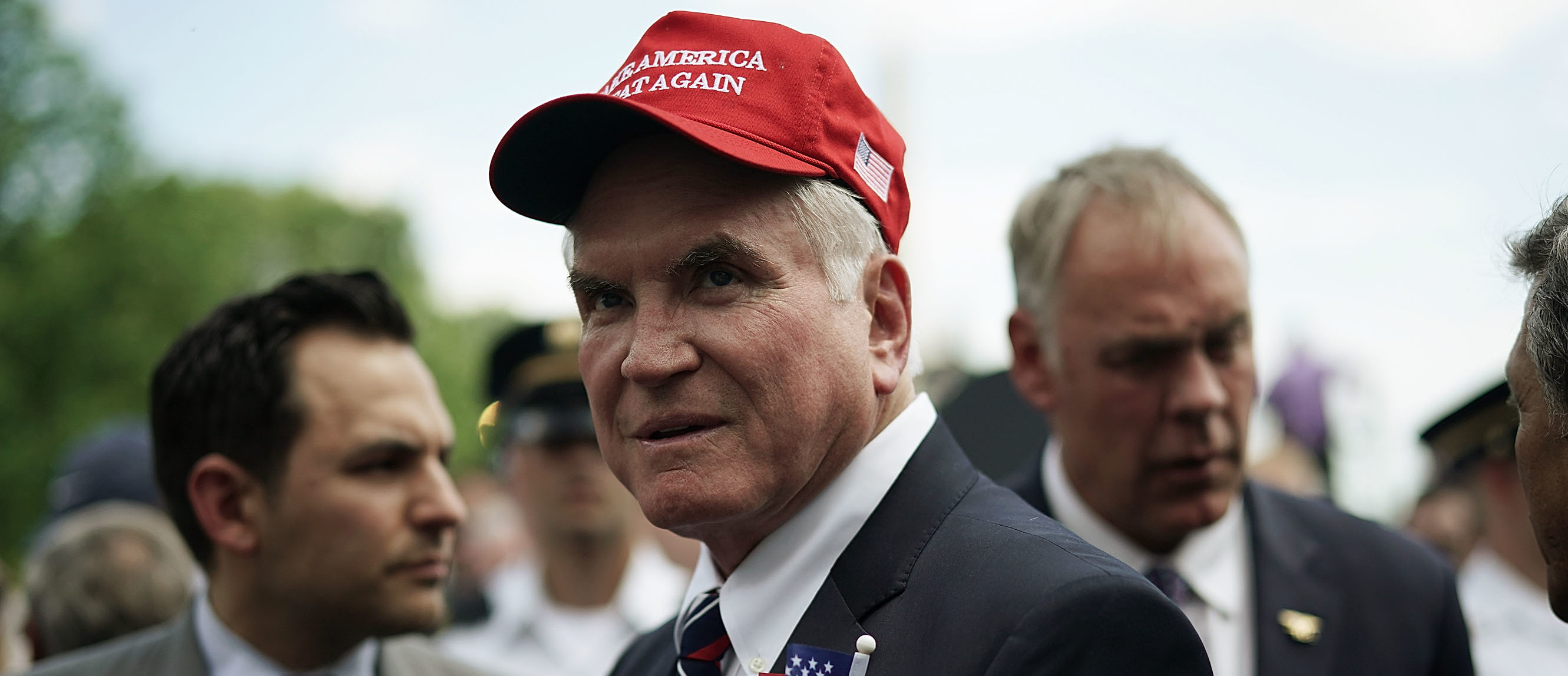 U.S. Rep. Mike Kelly (R-PA) (2nd L) attends a 'Celebration of America' event on the south lawn of the White House June 5, 2018 in Washington, DC. The event, originally intended to honor the Super Bowl champion Philadelphia Eagles, was changed after the majority of the team declined to attend the event due to a disagreement with Trump over NFL players kneeling during the national anthem. (Photo by Alex Wong/Getty Images)