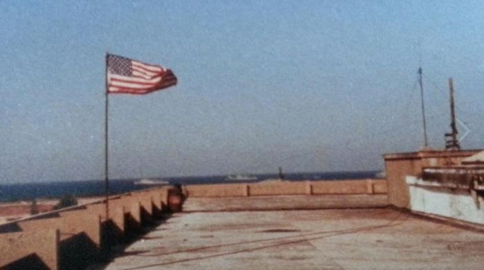 Photo taken by Rep. Greg Pence from the top of the Marine Barracks in Beirut, Lebanon (captured shortly before Oct. 23, 1983) (Congressman Pence/Press Release)