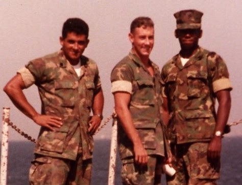 Greg Pence (Middle) during his time in the Marines (Congressman Pence/Press Release)