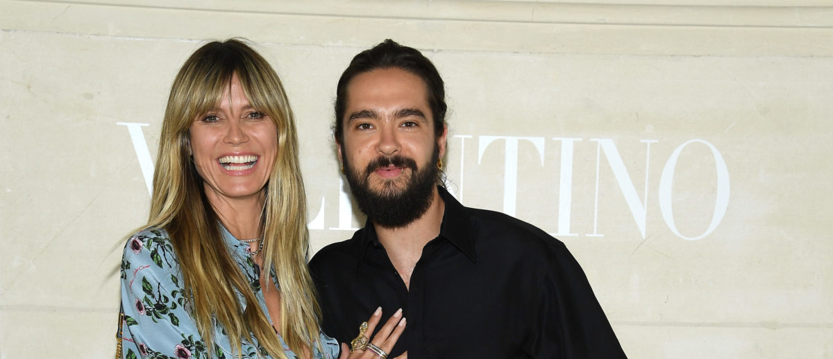 Heidi Klum and Tom Kaulitz attend the Valentino Haute Couture Fall/Winter 2019 2020 show as part of Paris Fashion Week on July 03, 2019 in Paris, France. (Photo by Pascal Le Segretain/Getty Images)