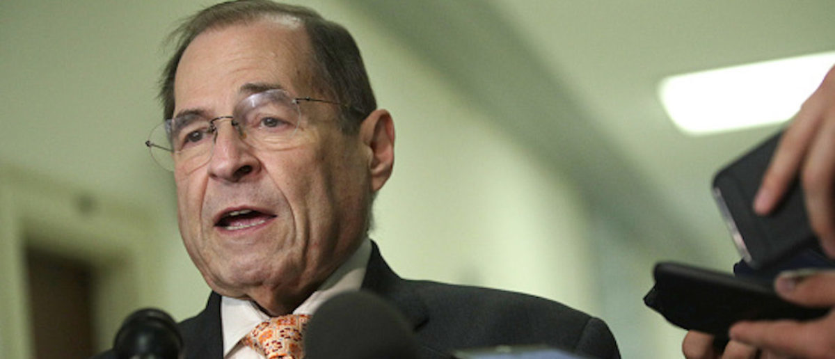 WASHINGTON, DC - JUNE 26: U.S. House Judiciary Committee Chairman Rep. Jerry Nadler (D-NY) speaks to members of the media at Rayburn House Office Building on Capitol Hill June 26, 2019 in Washington, DC. Special counsel Robert Mueller has agreed to testify on his investigation into President Donald Trump after a subpoena was issued by the House Judiciary and Intelligence Committees. (Photo by Alex Wong/Getty Images)