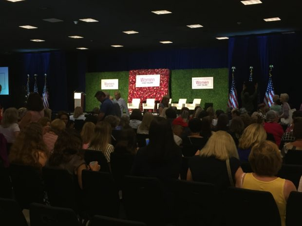 "Crowd listens at ""Women for Trump"" coalition launch in King of Prussia, PA (Daily Caller: July 16, 2019)"