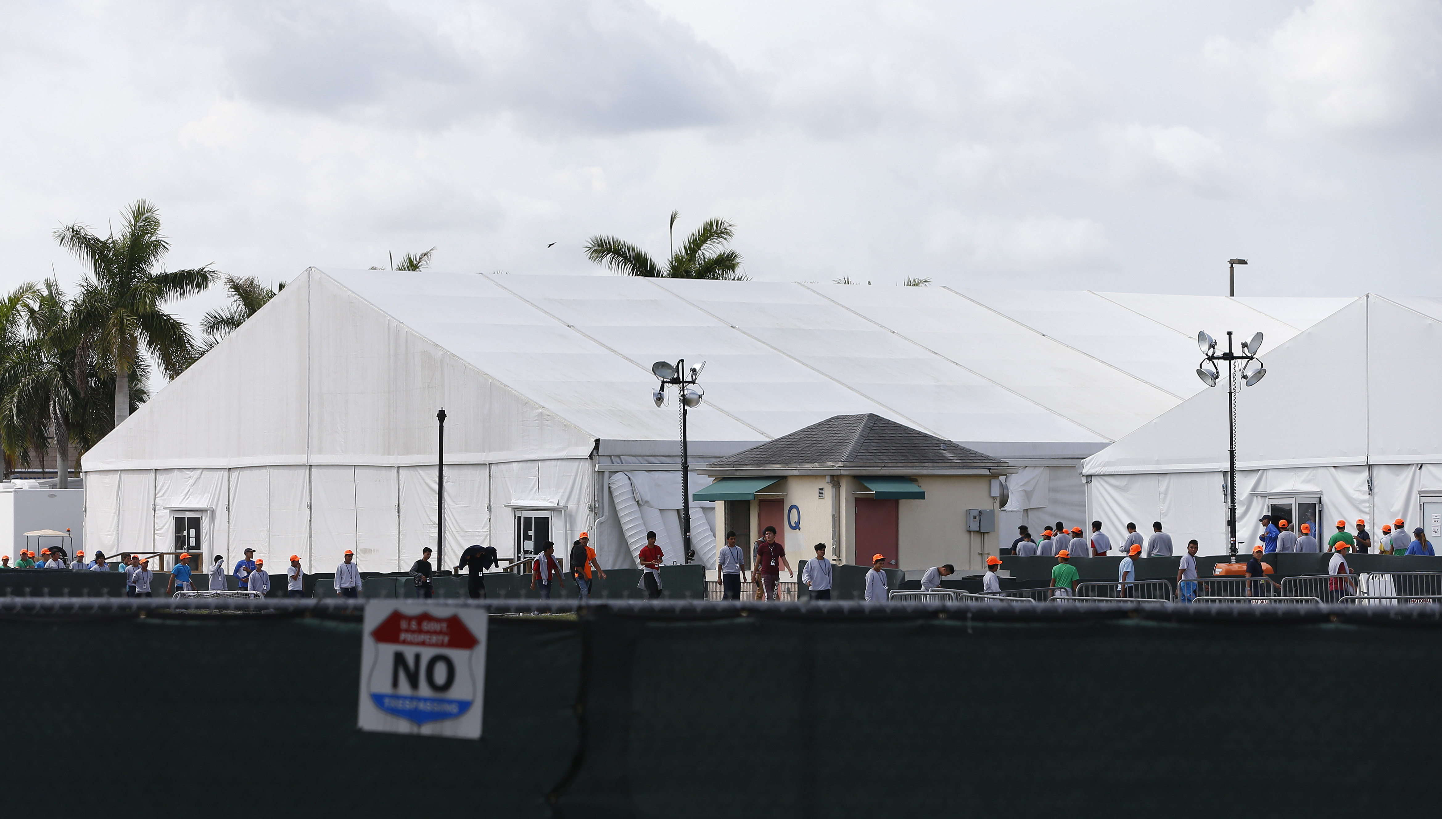 A detention center in Homestead, Florida on June 27, 2019. (Rhona Wise/AFP/Getty Images)