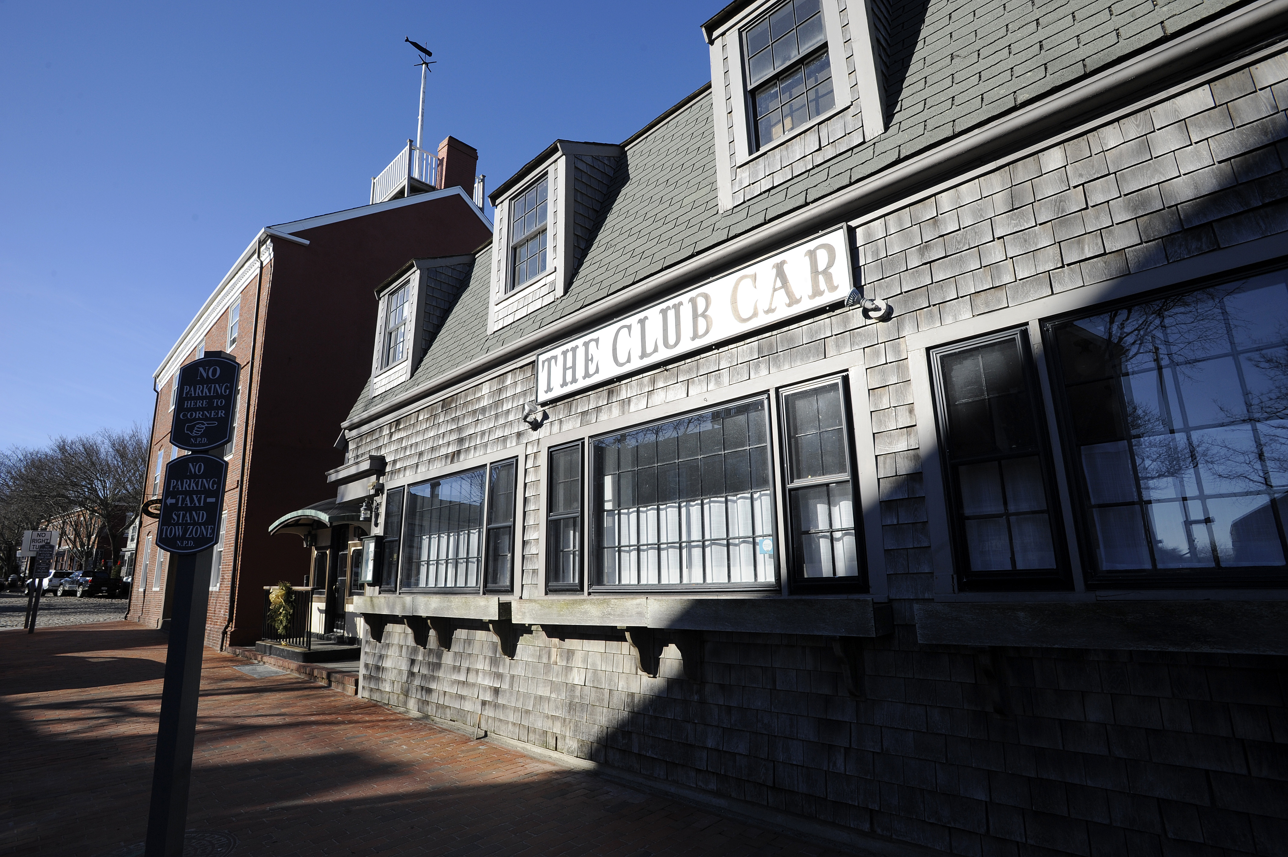 "The Club Car Restaurant where actor Kevin Spacey's alleged indecent sexual assault on a teenager took place is seen on January 7, 2019 in Nantucket, Massachusetts. - Kevin Spacey was formally charged Monday with the indecent assault of a teenager who alleged the US actor groped him at a bar in Massachusetts in 2016. The ""House of Cards"" star was not asked for his plea during the brief arraignment in a crowded Nantucket courtroom, but local media said his lawyer entered a plea of not guilty on his behalf.A follow-on hearing was scheduled for March 4,2019 but Spacey was not required to attend. (Photo by Joseph PREZIOSO / AFP) (Photo credit should read JOSEPH PREZIOSO/AFP/Getty Images)"