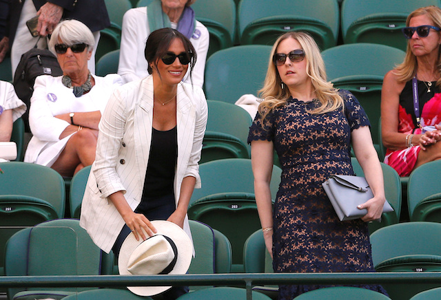 Tennis - Wimbledon - All England Lawn Tennis and Croquet Club, London, Britain - July 4, 2019 Meghan, Duchess of Sussex watches the match between Serena Williams of the U.S. and Slovenia's Kaja Juvan REUTERS/Andrew Couldridge