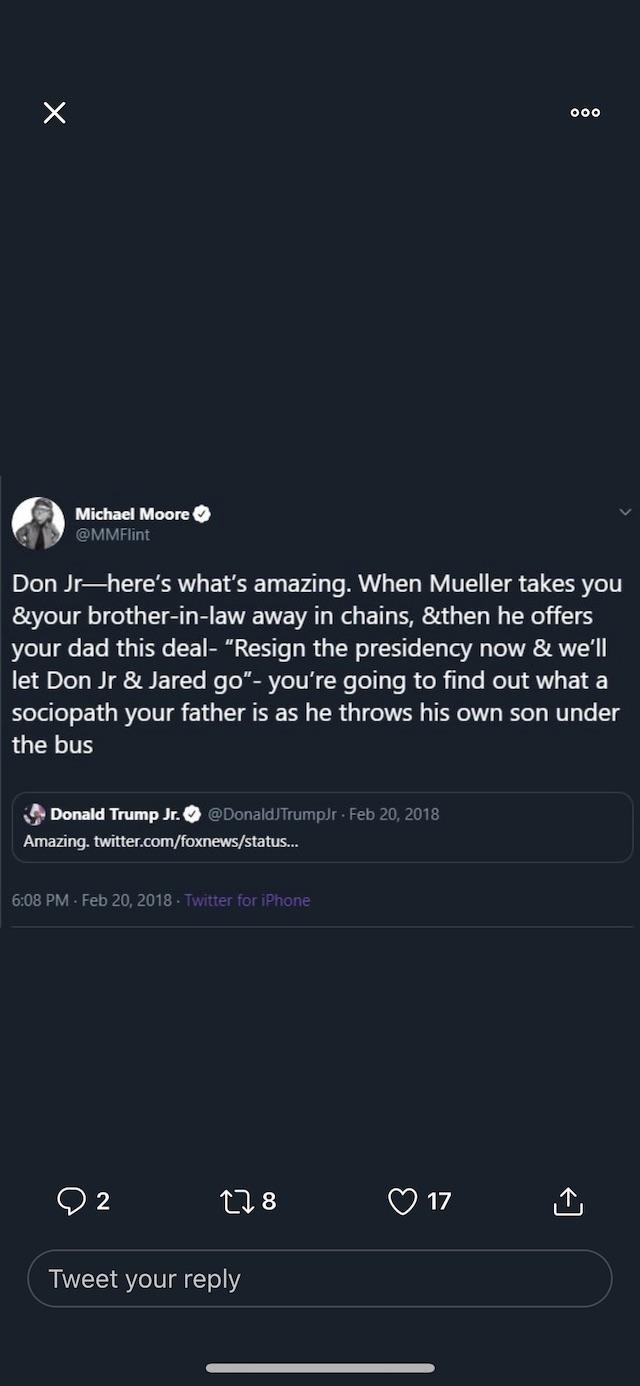 Michael Moore Twitter Screenshot