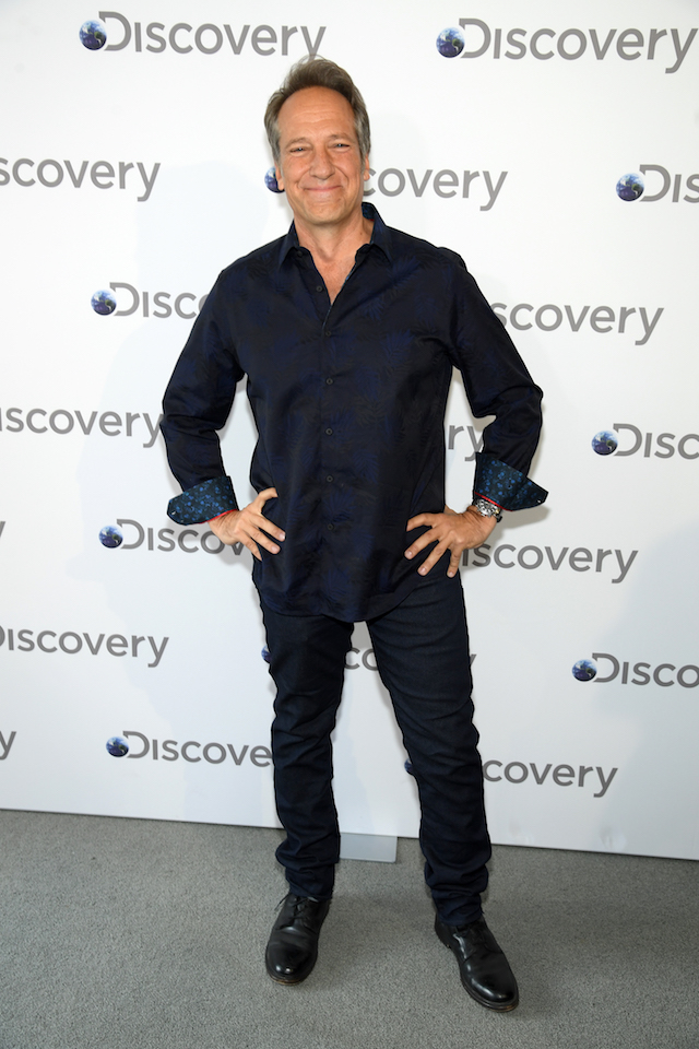 Mike Rowe attends the Discovery Upfront 2018 at the Alice Tully Hall at Lincoln Center on April 10, 2018 in New York City. (Photo by Dimitrios Kambouris/Getty Images for Discovery)
