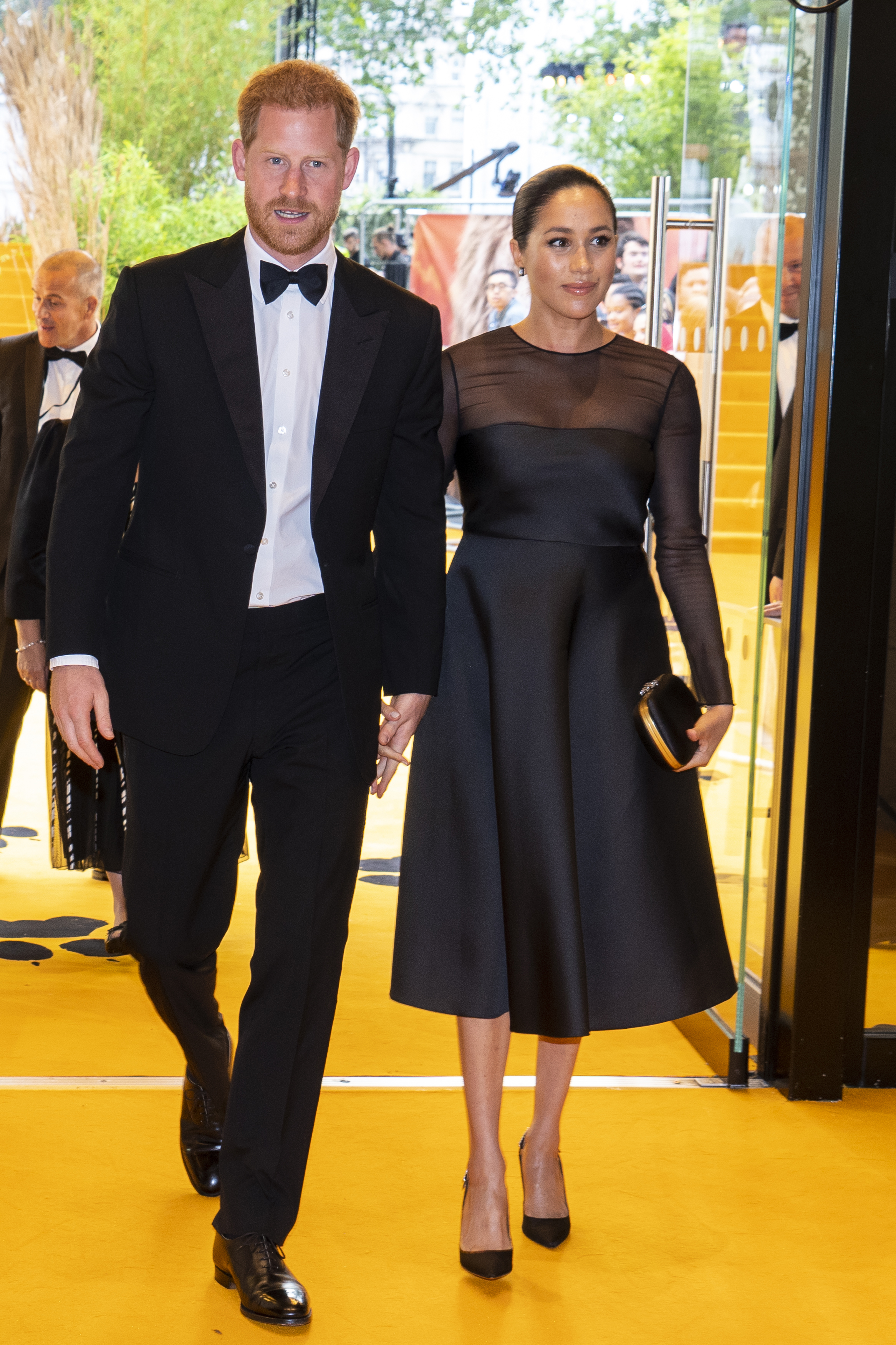 "Prince Harry, Duke of Sussex and Meghan, Duchess of Sussex arrive to attend the European Premiere of Disney's ""The Lion King"" at Odeon Luxe Leicester Square on July 14, 2019 in London, England. (Photo by Niklas Halle'n-WPA Pool/Getty Images)"