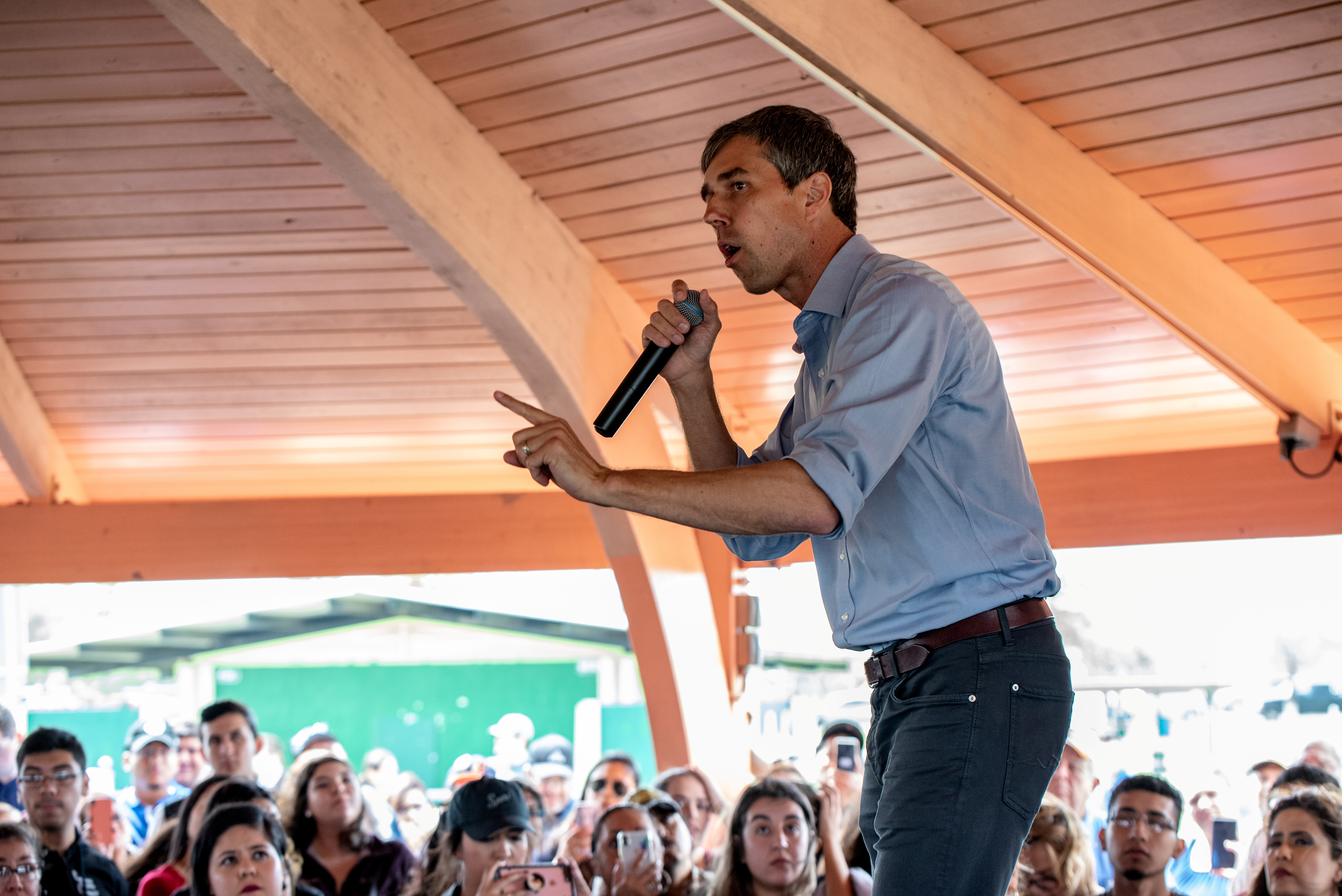 Beto O'Rourke is a man of many professions: from selling ice cream to running for president. (REUTERS/Sergio Flores)