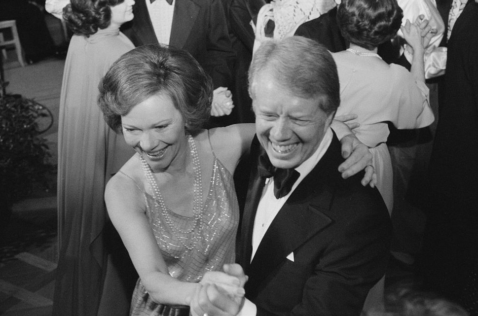 U.S. President Jimmy Carter and first lady Rosalynn Carter dance at a White House Congressional Ball in Washington, December 13, 1978. Library of Congress/Marion S. Trikosko/Handout