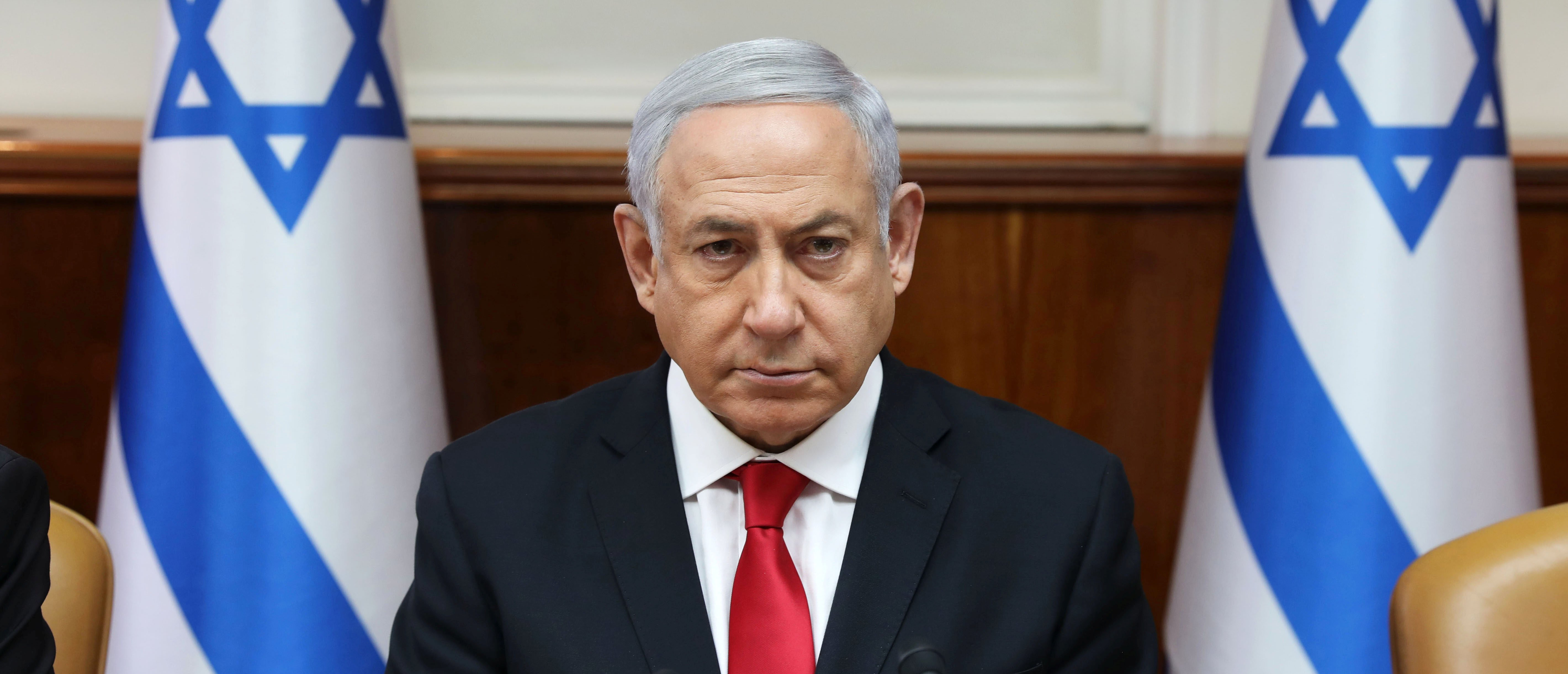 Israeli Prime Minister Benjamin Netanyahu attends the weekly cabinet meeting at his office in Jerusalem May 5, 2019. Abir Sultan/Pool via REUTERS - RC1F6B978030