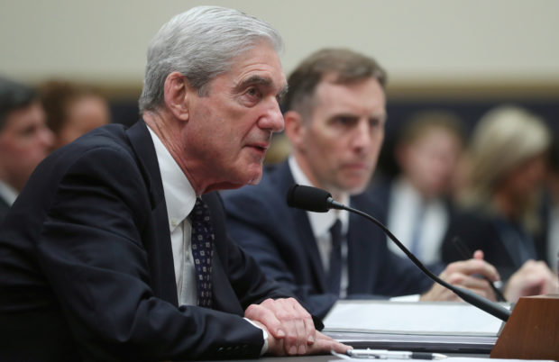 Former Special Counsel Robert Mueller testifies to House Intelligence Committee at a hearing on the Office of Special Counsel's investigation into Russian Interference in the 2016 Presidential Election on Capitol Hill in Washington, U.S., July 24, 2019. REUTERS/Jonathan Ernst