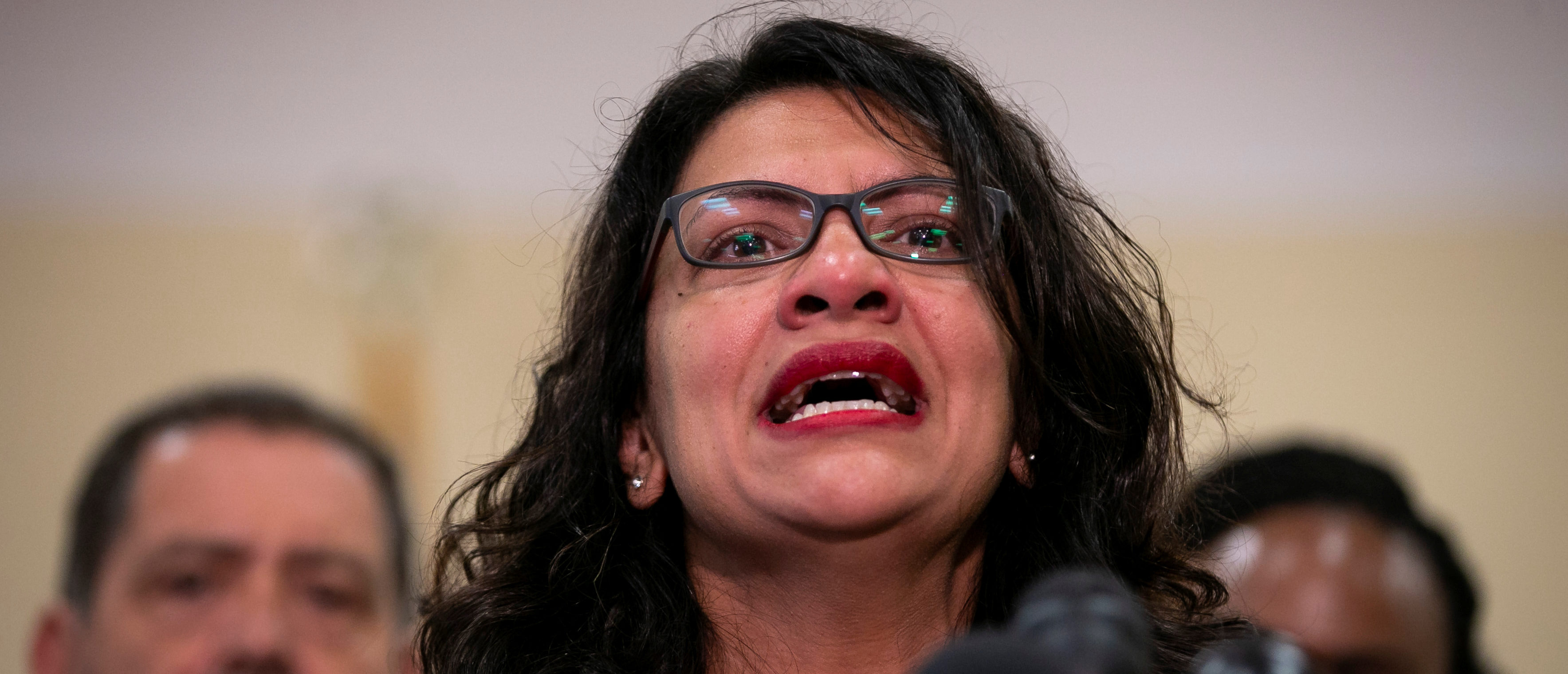 Representative Rashida Tlaib (D-MI) speaks during a news conference with Yazmin Juarez, mother of 19-month-old Mariee, who died after detention by U.S. Immigration and Customs Enforcement (ICE), on Capitol Hill in Washington, U.S., July 10, 2019. REUTERS/Al Drago