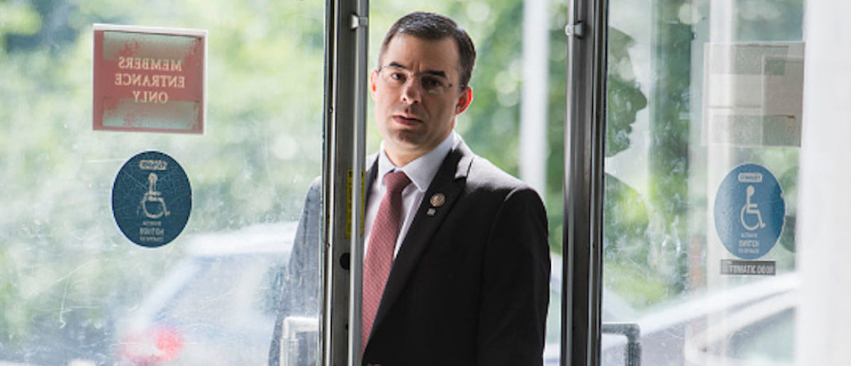UNITED STATES - JUNE 26: Rep. Justin Amash, R-Mich., arrives in Rayburn Building on Wednesday, June 26, 2019. (Photo By Tom Williams/CQ Roll Call)