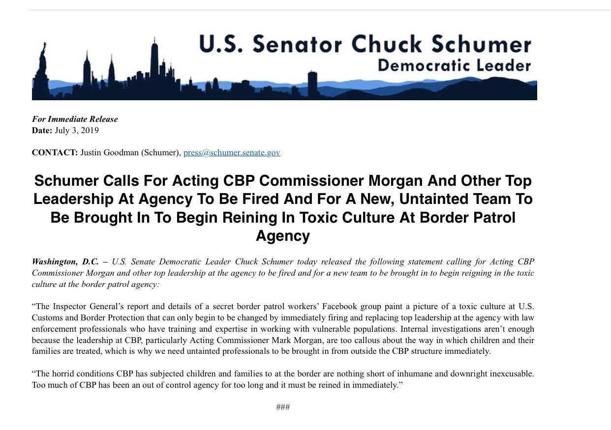 Schumer Email on July 3