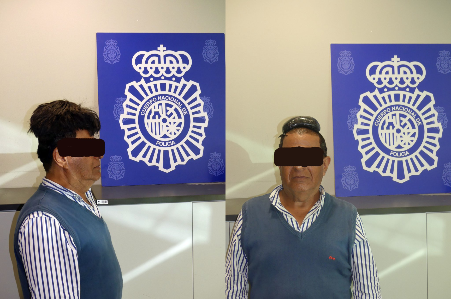Cocaine wig man. (Twitter/@Policia)