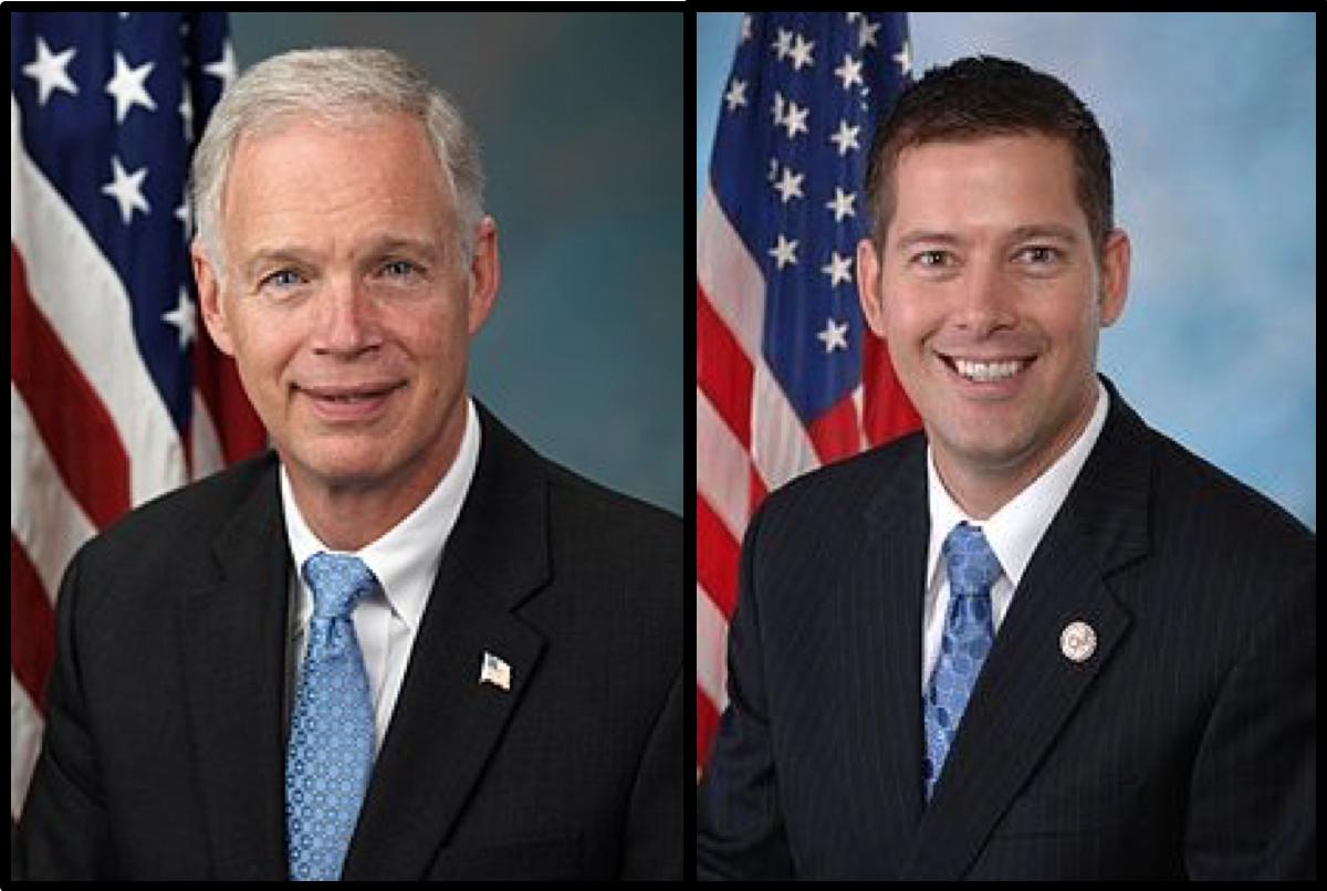 Senator Johnson (left) appeared on Representative Duffy's (right) podcast to discuss the border crisis. (house.gov/senate.gov)